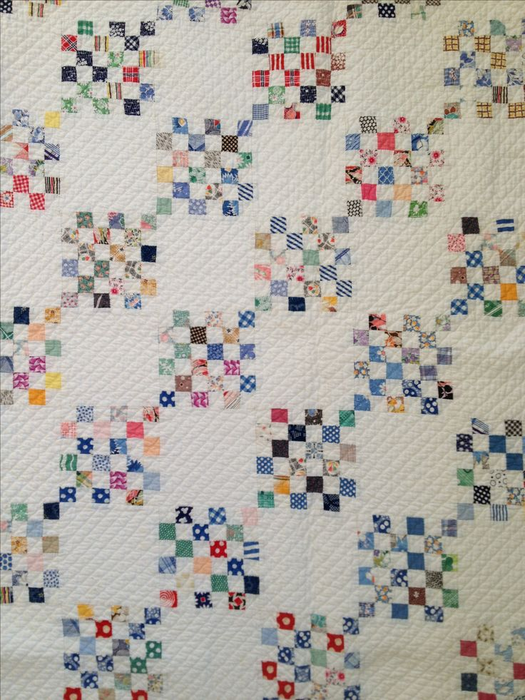 Stunning postage stamp quilt. Don't think I can part with this one from Collectible Quilt Company!