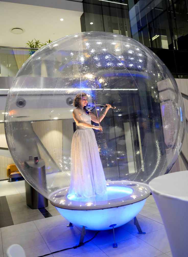 A long flowing white dress, chilled violin music and a bubble created the perfect backdrop for the Novartis product launch for a new clearer contact-lens.