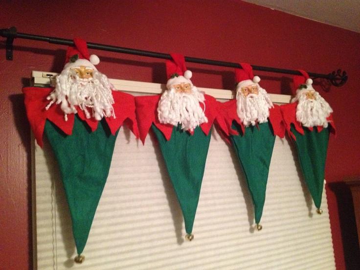 Home made Christmas valance!