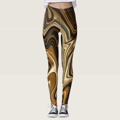 Gorgeous Marble Style - Warm brown Leggings - cyo diy customize unique design gift idea