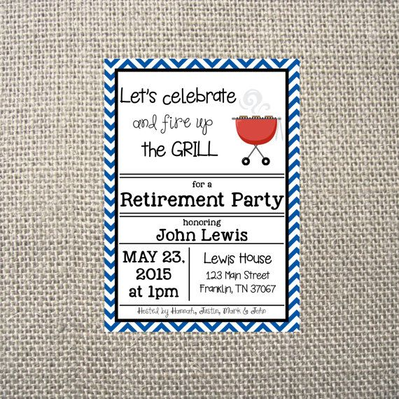 PRINTED or DIGITAL BBQ Retirement Party Grill Out Neighborhood Dinner Lunch Picnic Park Invitations 5x7 Customized Pig Design 0.82 each