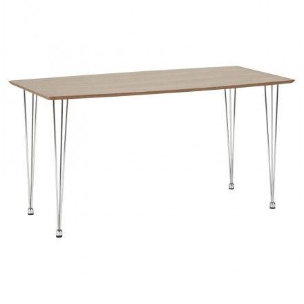 un air rtro pour cette table design rectangulaire sophie en bois noyer son - Pied Rectangulaire Pour Table