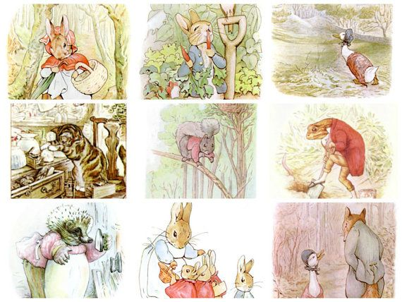 423 Beatrix Potter Images from Peter Rabbit Squirrel by joapan