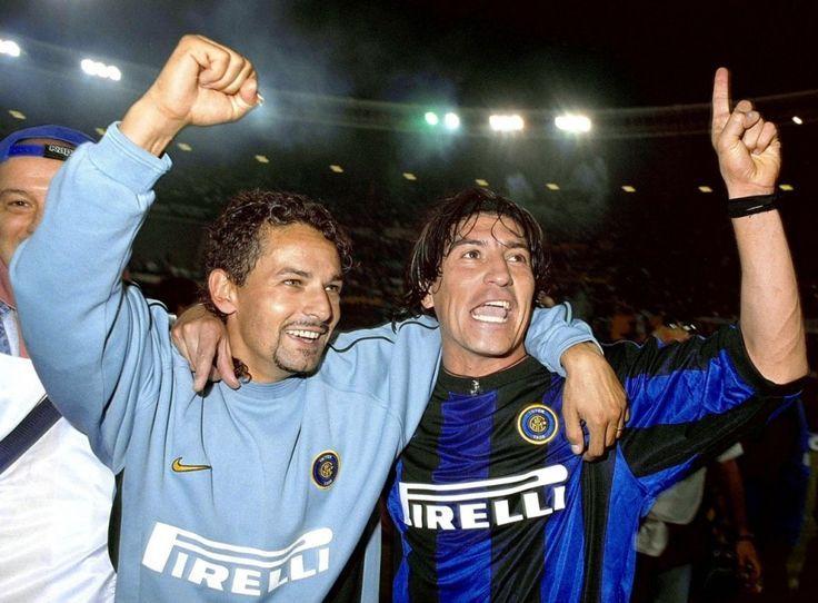 Roberto Baggio et Ivan Zamorano (Inter Milan)