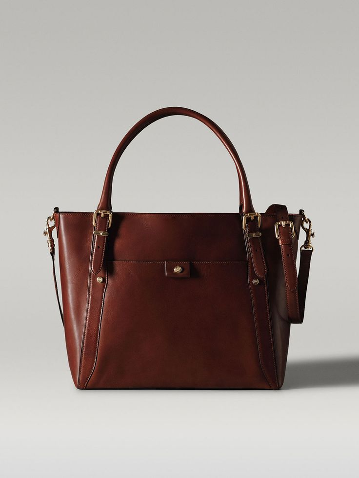 2014 collection LEATHER HANDBAG WITH BUCKLES AND HANDLE 145