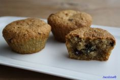 Muffins van amandelmeel, ook lekker met cacao + pure choc!
