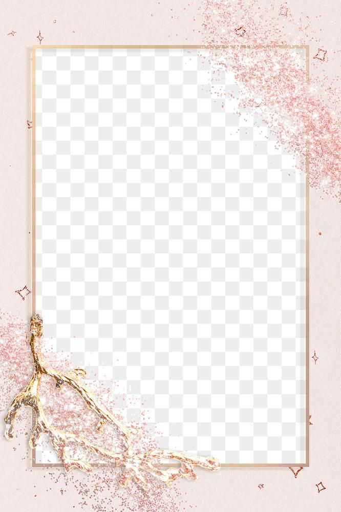 Sparkly Frame Png On Textured Background Free Image By Rawpixel Com Ployploy Glitter Frame Sparkly Background Pink And Gold Background