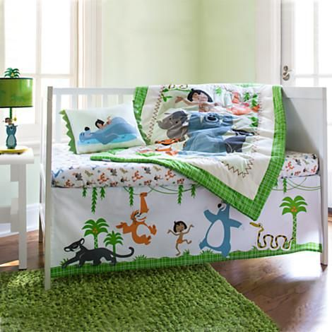 The Jungle Book Crib Bedding Set for Baby #DisneyBaby