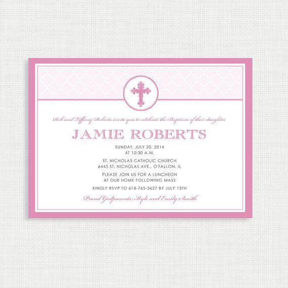 girl baptism invitation diy printable invite