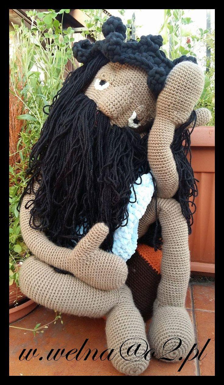 Jezus Frasobliwy Jesus Pensive  http://welna.blog.onet.pl  w.welna@o2.pl  #handmade #crochet #szydełko #rękodzięło #Jezus #Frasobliwy