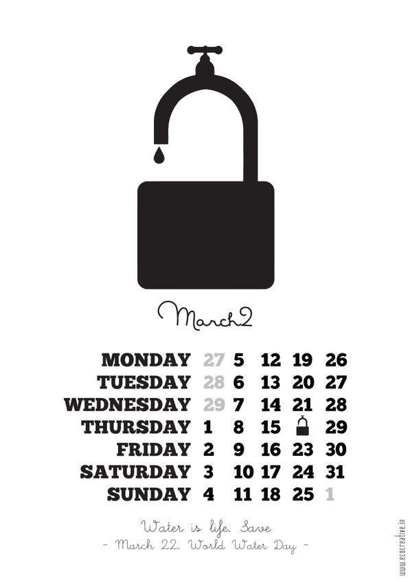 inspirational and memorable - calendar 2012 by muhammed rias a, via Behance