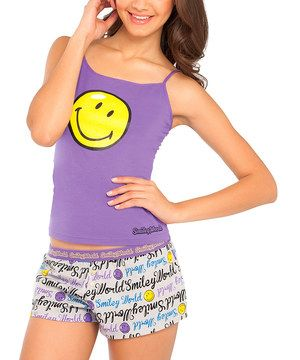 ... Ropa Interior · Smiley World Purple Smiley Face Pajamas ...