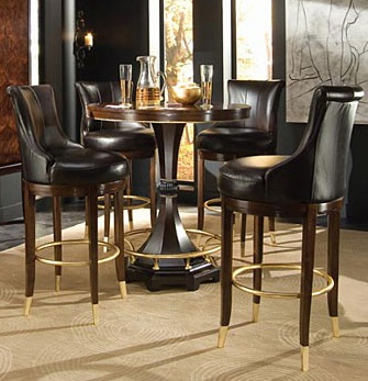 Bob Mackie Home Signature Rosewood Round Counter Dining Pub Bar Table