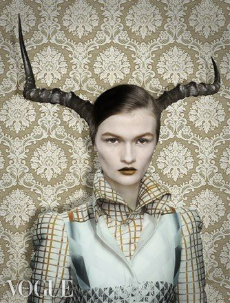 dario cuci blog. Mary Katrantzou creates camouflages. Photographed by Garjan Atwood for Vogue