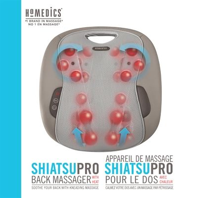 HOMEDICS MCSBK-350H-CA Shiatsu Pro Back Massager with Heat