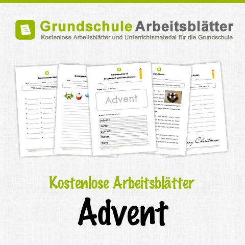 Kostenlose Arbeitsblätter und Unterrichtsmaterial zum Thema Advent in der Grundschule.