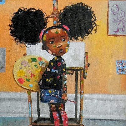 Pin by Shades Of Color African American Gifts on We Love Our Artists: Frank Morrison | Pinterest | Art, Natural hair art and Hair art