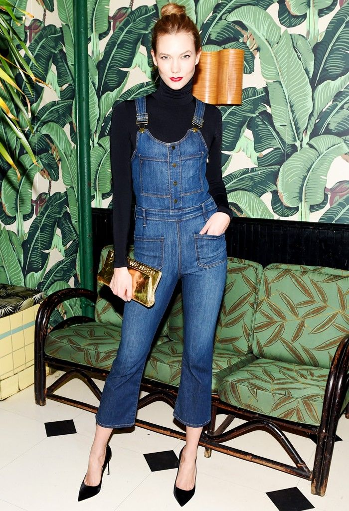 Karlie Kloss Has a Genius Styling Trick for Overalls via @WhoWhatWearUK
