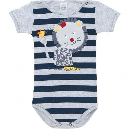 Body Masculino para Bebê Leãozinho - Patimini