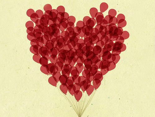 heart: Mo'N Davis, Love I, Thumb Prints, My Heart, Valentines Day, Red Balloon, Red Heart, Love Heart, Flying Away
