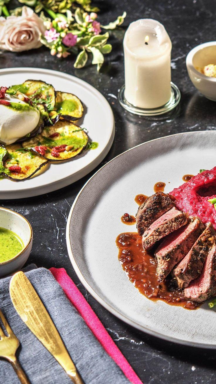 3 g nge valentinstags men mit carpaccio steak mit pinkem. Black Bedroom Furniture Sets. Home Design Ideas