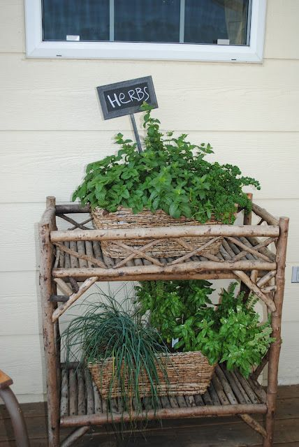 ~Irishman Acres~ Twig furniture, Herb Garden