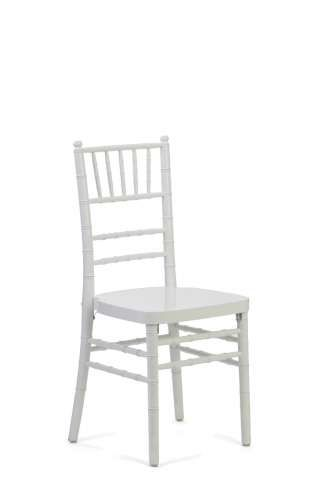 White Chiavari Chairs with Red Chair Pad (not included in picture)