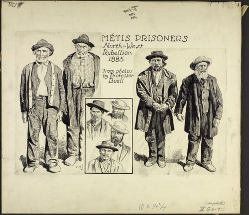 Métos prisoners, North West Rebellion, 1885; from Collections Canada