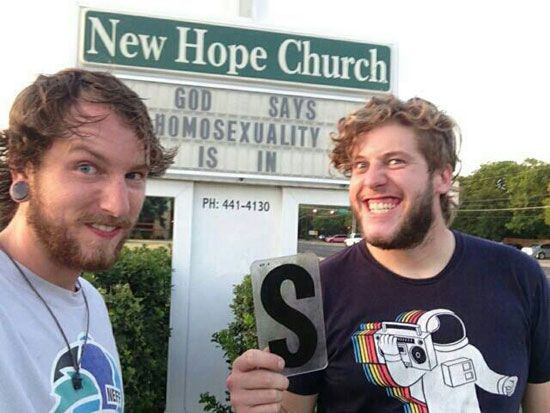 Image result for churches gay promotion meme
