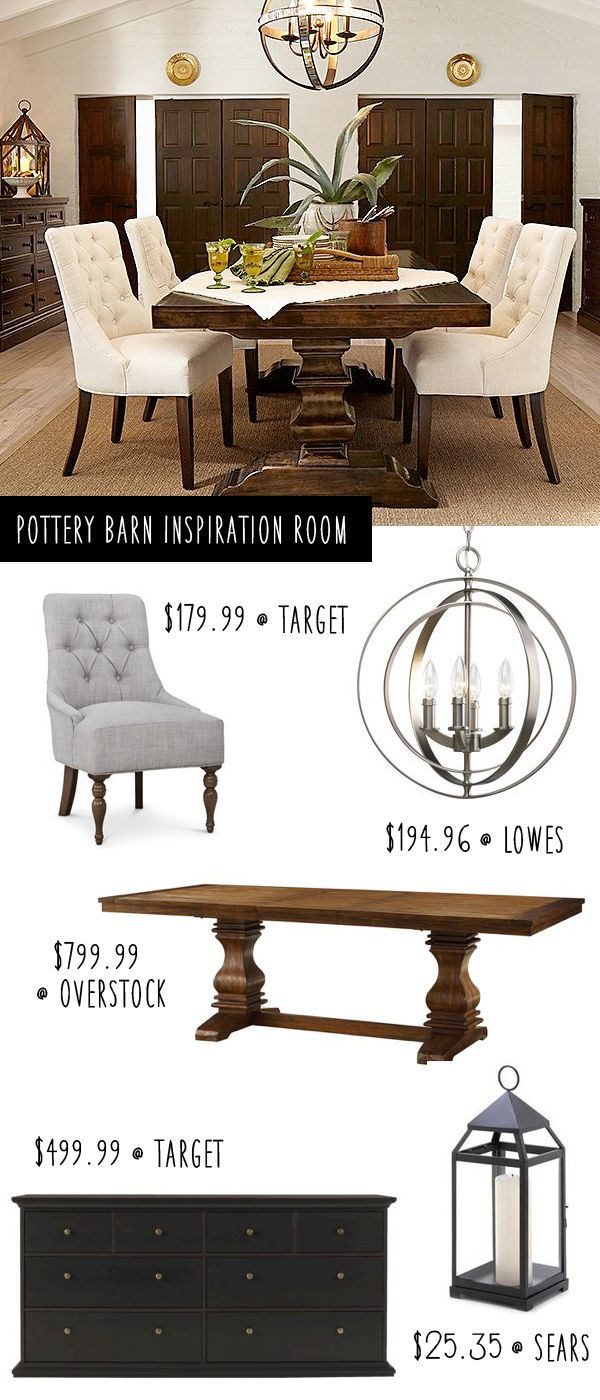 Pottery Barn Dining Room on a budget!