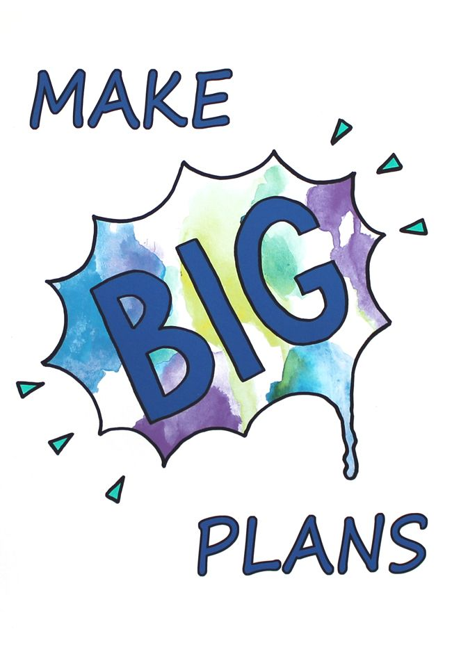 """Got big dreams? Then you'll need to """"Make BIG Plans"""" This art print- designed with boys in mind, is all about encouraging action & planning to go with your BIG dreams!"""