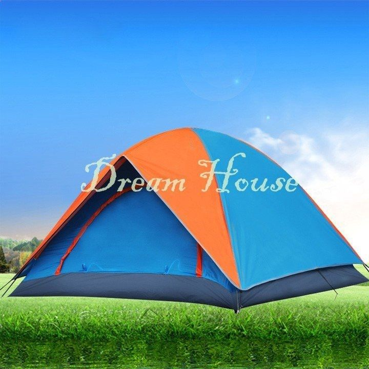 Camping Tents - 2015 New Style 4-Person Tent Double Layer Family And Party Camping Tent Beach Tent 10