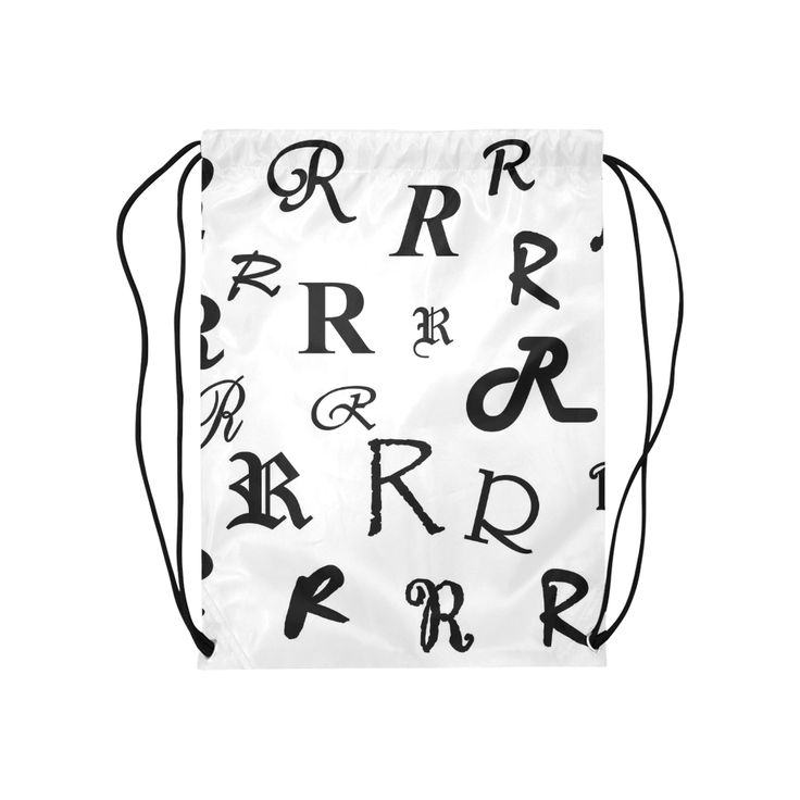 Monogram R Fonts Medium Drawstring Bag Model 1604 by Khoncepts