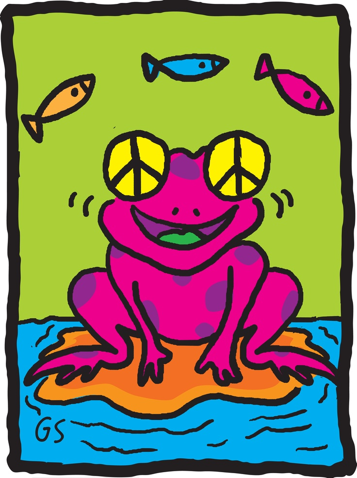 The Peace Frog spreads the word one hop at a time