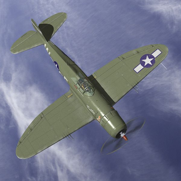 P-47 modelled and rendered in MODO
