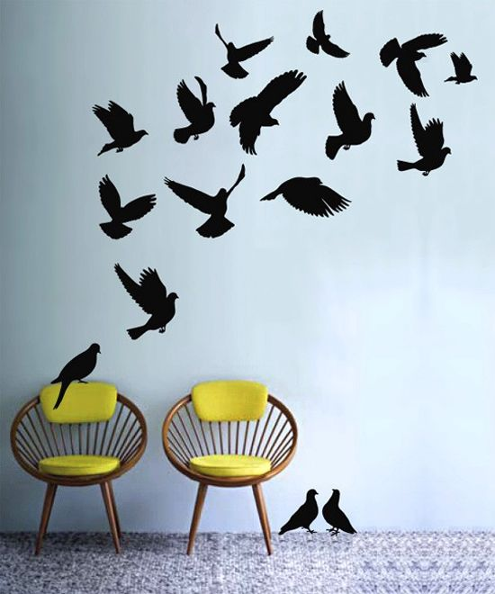 De  Bästa Wall Art Birdsbilderna På Pinterest - Somewhat about wall stickers