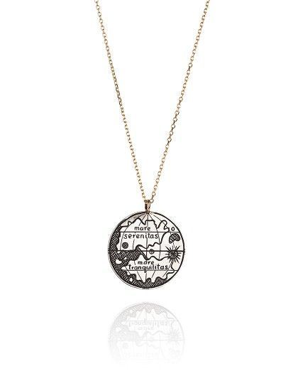 Astrological Map Coin Necklace
