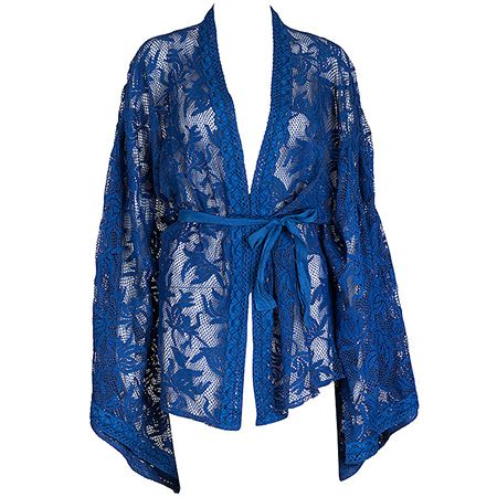 A must ethnic touch that can take you in exotic places just by look at it. Are you into this blue laced kimono???  #achilleas_accessories