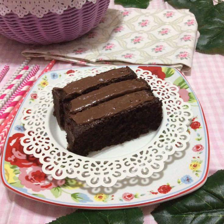 Almond Chocolate brownies with nuttela topping