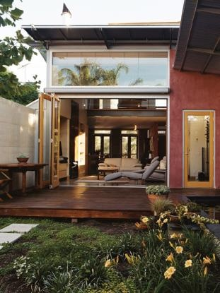 Like the glass, the roof line, the decking, the open doors.