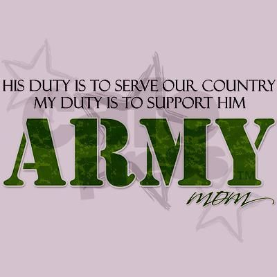 Army Mom Same with the President or read that military oath.