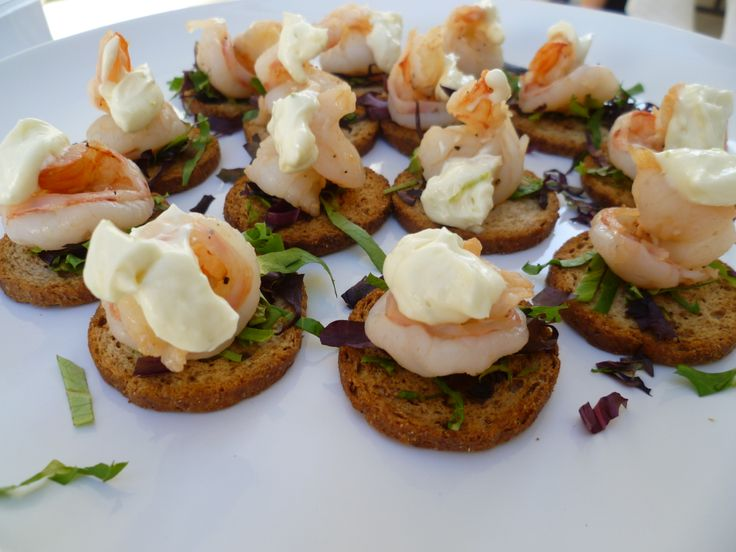 120 best images about appetizers on pinterest skewers for Shrimp canape ideas