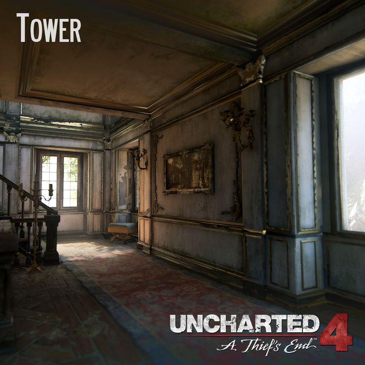 Uncharted 4 - Tower, Andres Rodriguez on ArtStation at https://www.artstation.com/artwork/aaka8