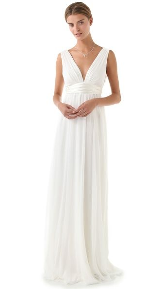"""Thread Athena Double V Gown  for our """"Just Us"""" Ceremony"""