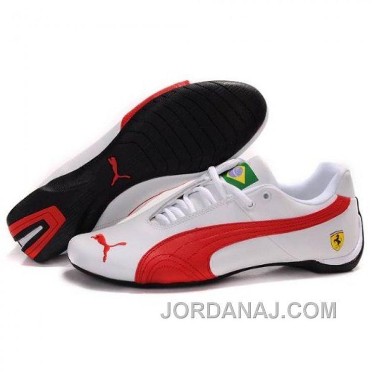 Mens Puma Ferrari Brazil In White-Red