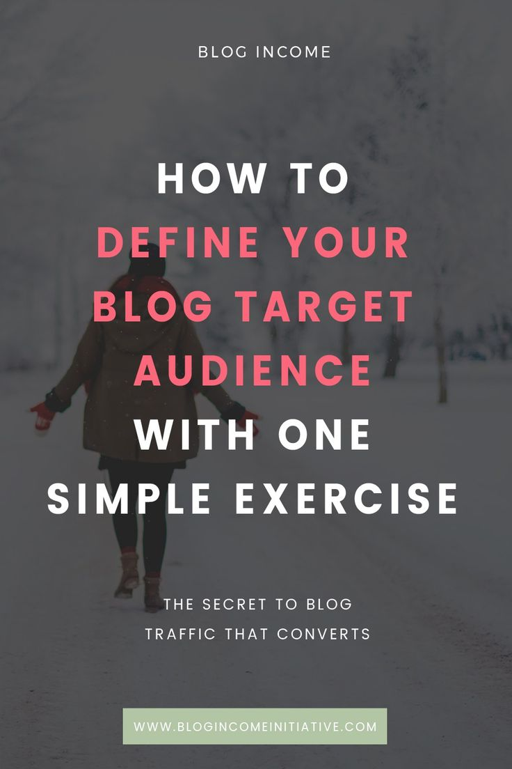 To get more Blog Traffic that converts you need to know your Target Audience. Read this post to find out who your Blog Target Audience is with this one simple exercise...
