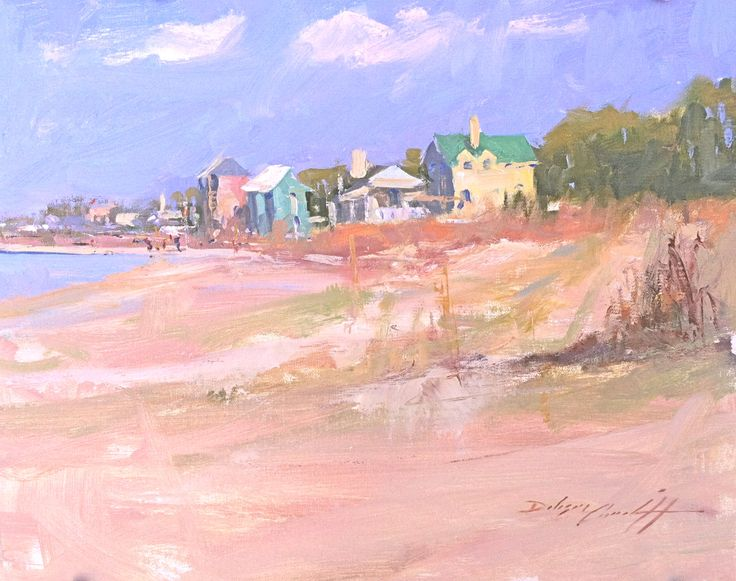 """Beach Sorbet"" 11"" x 14"", Available Colorful beach houses on Indian Pass Beach in Florida's Forgotten Coast"