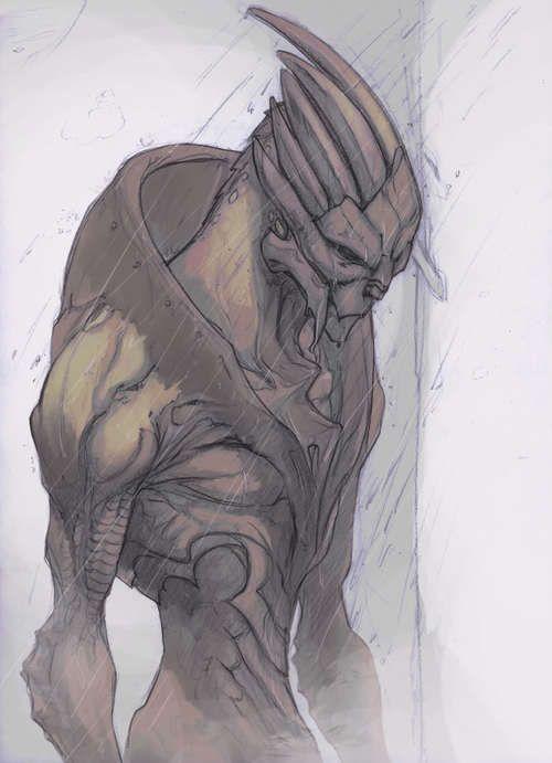 garrus, naked alien from mass effect