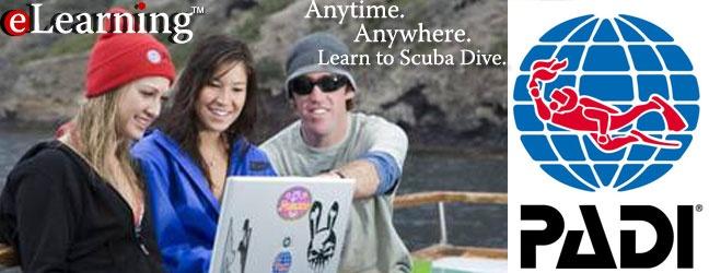 Aquatic Adventures: elearning, online open water course, PADI, start scuba diving today