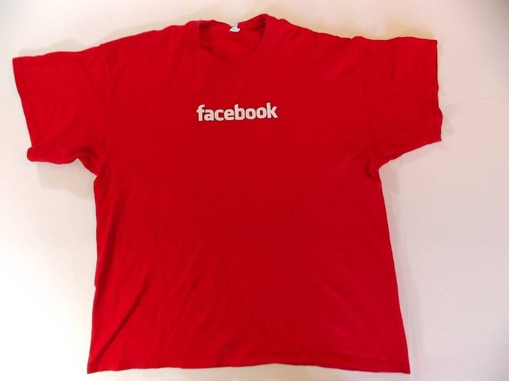 Size XL Mens Facebook Social Network Tshirt Shirt Red Internet T6 #Grande #BasicTee